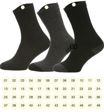 8e9e7975 48 Etiketter for klær i fortløpende nummer | Stryk-på etiketter til sokker
